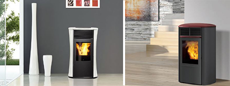 Mode de chauffage de maison avec poêle à granules -Top Duo
