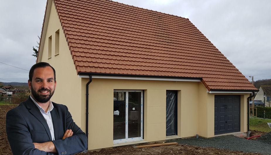 Construction d 39 une maison tage de 80m 3 chambres sur - Construction maison sans sous sol ...