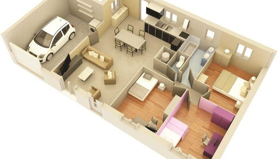maison individuelle la villedieu du temple top duo montauban 17304. Black Bedroom Furniture Sets. Home Design Ideas