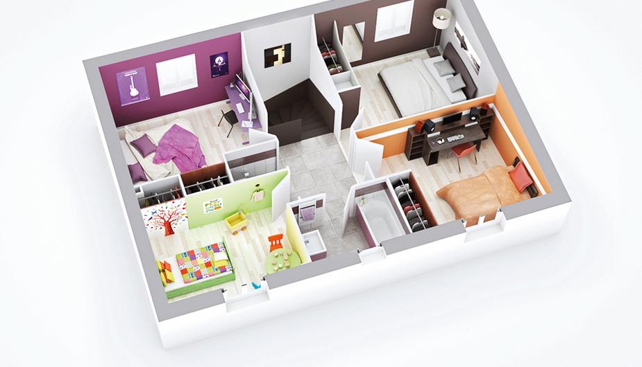 maison individuelle neuville sur saone top duo decines 41220. Black Bedroom Furniture Sets. Home Design Ideas