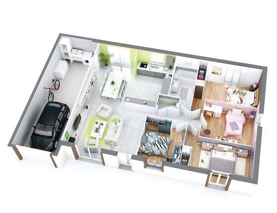 maison individuelle lauzerville top duo 30864. Black Bedroom Furniture Sets. Home Design Ideas