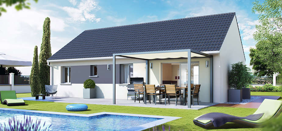 Plan maison individuelle mod le sun ardoise top duo for Villa basse moderne
