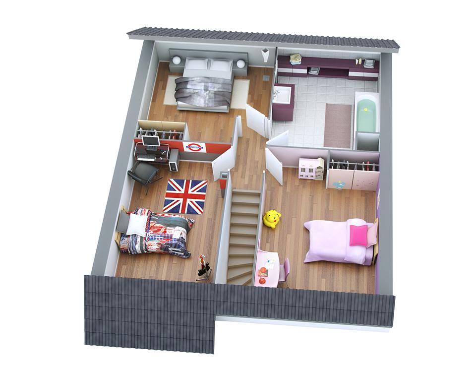Plan maison individuelle mod le victor ardoise top duo for Modele maison victor