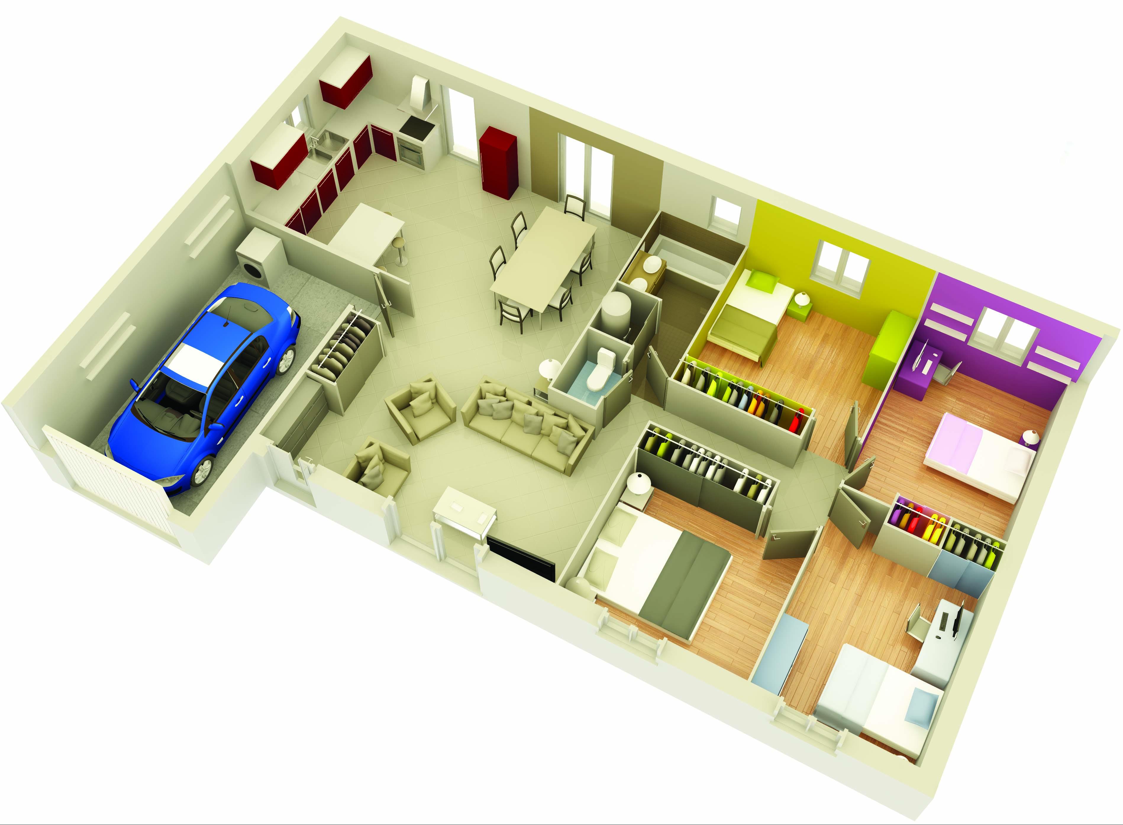 mod le construction maison lourmarin cuivre top duo plan et mod le maison individuelle. Black Bedroom Furniture Sets. Home Design Ideas