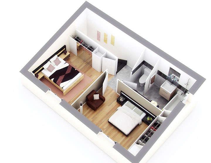 plan maison individuelle mod le castillon g noise top duo. Black Bedroom Furniture Sets. Home Design Ideas