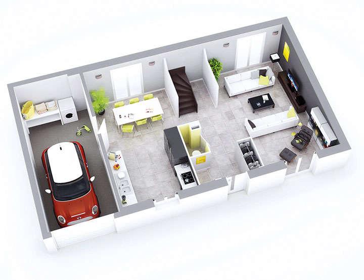 Plan maison individuelle mod le emeraude cuivre top duo for Maison emeraude