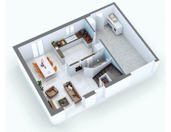 plan maison individuelle mod le fregate cuivre top duo. Black Bedroom Furniture Sets. Home Design Ideas