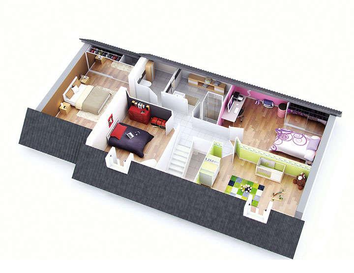 plan maison individuelle mod le juliette ardoise top duo. Black Bedroom Furniture Sets. Home Design Ideas