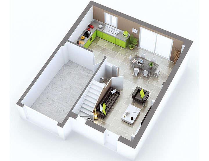 Plan maison individuelle mod le quartz g noise top duo for Top garage villeurbanne