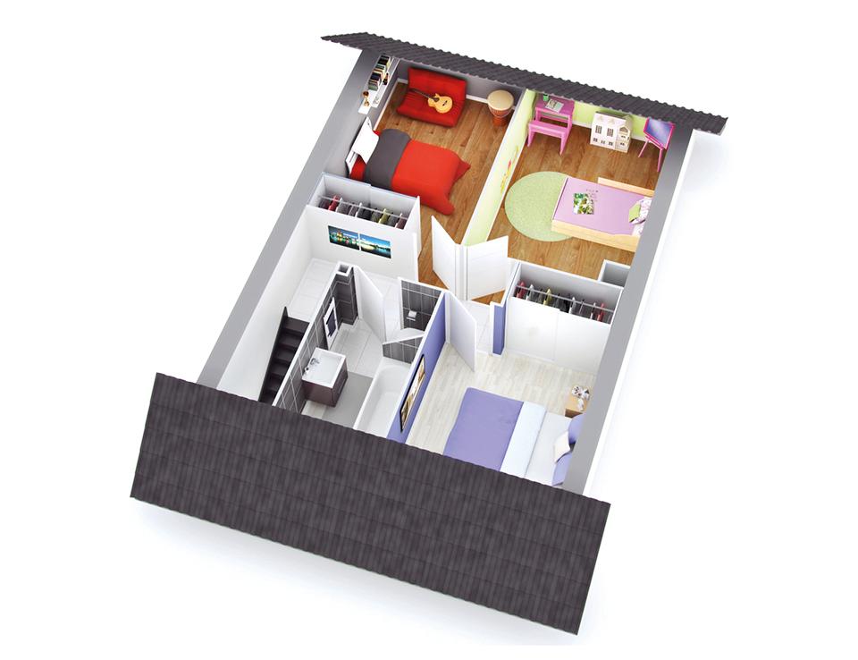 maison petit budget space etage top duo