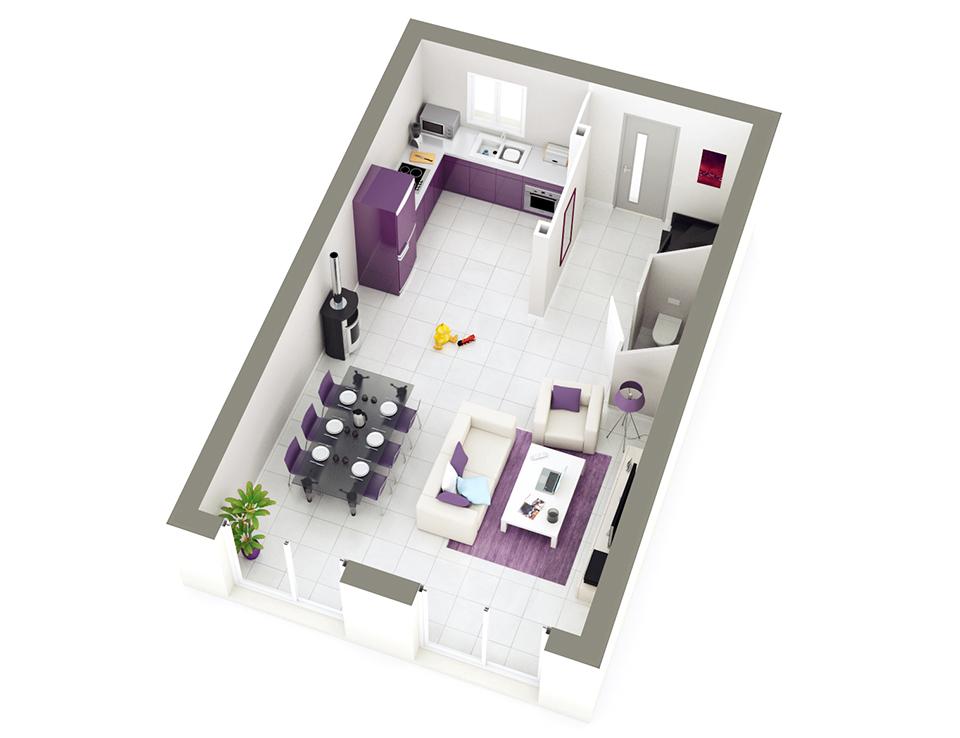 Plan maison individuelle mod le style ardoise top duo for Maison petit budget