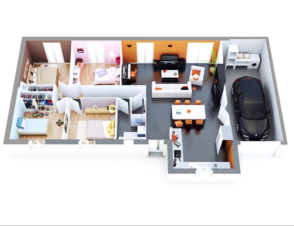 plan maison individuelle mod le topas g noise top duo. Black Bedroom Furniture Sets. Home Design Ideas