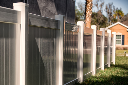 Cloture de jardin en PVC