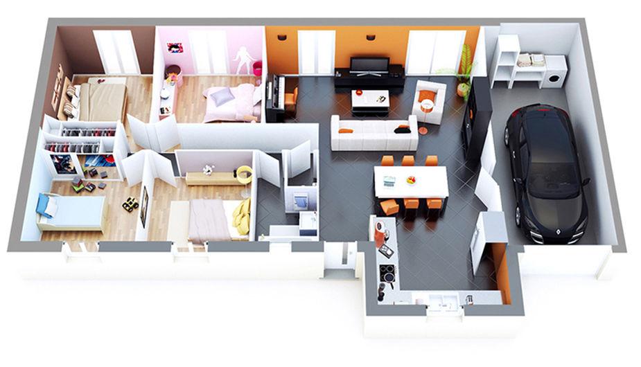 maison individuelle bretx top duo montauban 34846. Black Bedroom Furniture Sets. Home Design Ideas