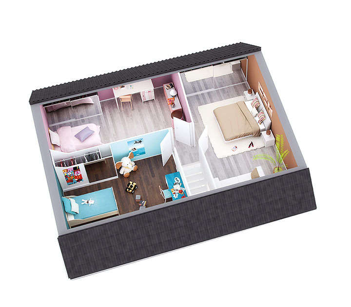 maison petit budget smart etage top duo